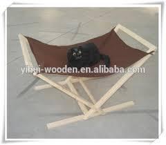 cheap cat bed hammock wooden frame home house nest pet swing soft