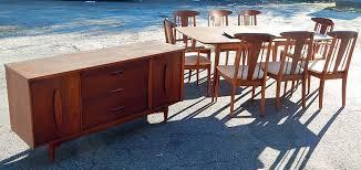 mid century dining room table garrison mid century danish modern walnut dining room set table