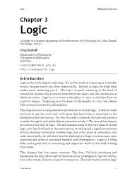 logic from fundamentals of philosophy greg restall validity
