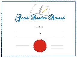good reader award templates online viewer good reader award ppt