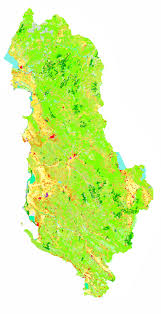 Map Of Albania Corine Land Cover 2000 Of Albania