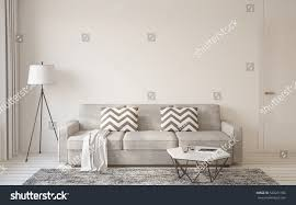 livingroom interior scandinavian style 3d render stock