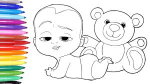 printable coloring pages to learn colors baby coloring pages the boss baby boss page learn colors for kids 2