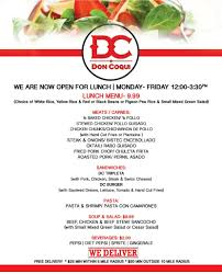 thanksgiving lunch menu don coqui restaurant u0026 lounge