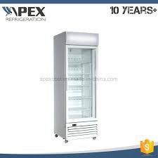 china commercial display refrigerator supermarket single glass