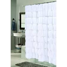 Ruffled Shower Curtain Lush Decor White Ruffle Shower Curtain Free Shipping Today