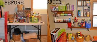Craft Room For Kids - cheap frugal way to organize your craft room thriftstorethursday
