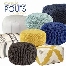 Chairs With Ottomans For Living Room Furniture Grey Knit Pouf Ottoman For Interesting Living Room