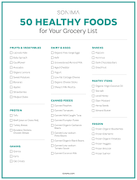healthy foods to add to your grocery list where to eat on south