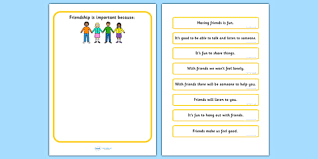 is friendship important worksheet communication friend