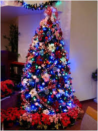 christmas trees with colored lights decorating ideas colored lights on christmas tree decorating ideas 11 ts1 us