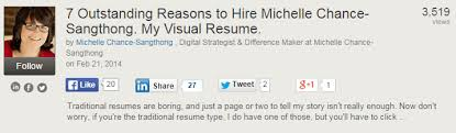 Visual Resume Examples 3 Inspiring Visual Resume Examples On Slideshare Career Sherpa
