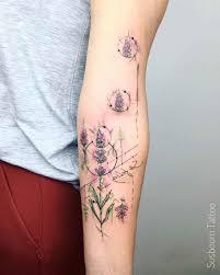 leg flower tattoos lavender tattoo flower on arm flowers tattoo pinterest