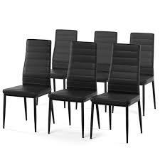 lot de 6 chaises salle à manger sam lot de 6 chaises de salle à manger en simili noir style
