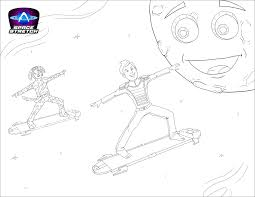 space stretch coloring pages