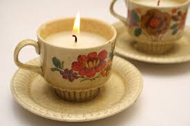 tea cup candles diy recycled teacup candles by wilma