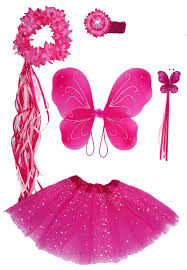 amazon com girls pink fairy costume with butterfly wings