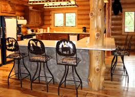 furniture rustic lodge counter stools tribecca home bar kitchen
