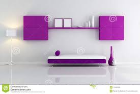 purple and white living room royalty free stock image image