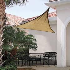 shelter logic 16 foot triangle sun shade sail sand northline