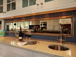 awesome nice design mirrored glass tile backsplash with cream top