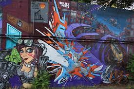 europe s biggest graffiti wall along tram station de wand close