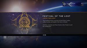 destiny halloween event festival of the lost megathread rebrn com