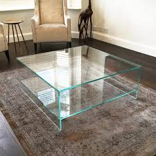 all glass coffee table judd square glass coffee table with shelf klarity coffe plan 8