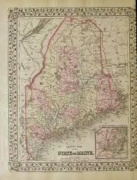 Map Portland Maine by Prints Old U0026 Rare Maine Page