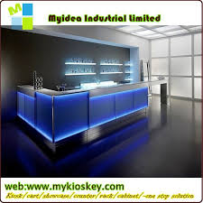led bar counter with modern bar counter designs for restaurants