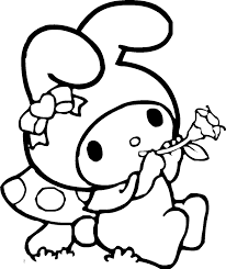 sanrio coloring pages my melody coloring pages fantasy coloring pages