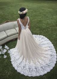 justin bridal stunning lace and tulle wedding dress with a simple v neckline