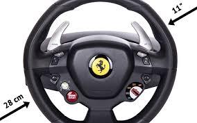 458 italia steering wheel technical data about the thrustmaster 458 italia steering