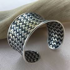 silver woven bracelet images Hill tribe silver woven bracelet cashmere pearls jpg