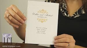 bi fold wedding program diy wedding programs blank wedding programs