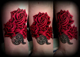 red realistic roses tattoo by calebslabzzzgraham on deviantart