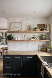 Screwfix Kitchen Cabinets Kitchen Reveal With Dark Cabinets And Open Shelving Open