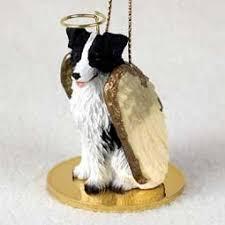 conversation concepts border collie pet ornament