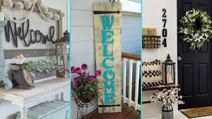 diy shabby chic style front porch welcome signs home decor