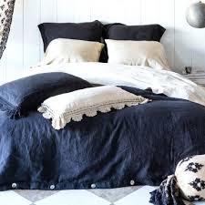 black linen duvet cover nz linen duvet cover king midnight black