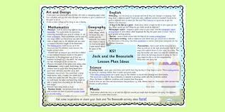 jack and the beanstalk eyfs lesson plan and enhancement ideas
