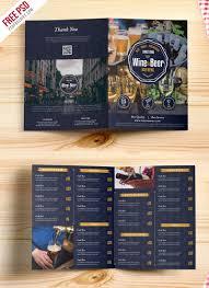two fold brochure template psd and wine menu bi fold brochure template psd uxfree