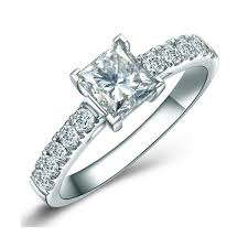 sale rings images 1 00 carat princess cut diamond engagement ring on sale jeenjewels jpg