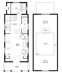 apartments tiny house blueprints main floor plan four lights
