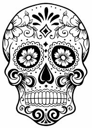 sugar skull designs sugar skull clip black and