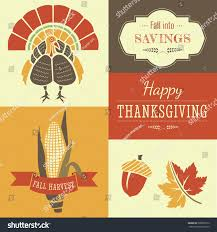 symbols of thanksgiving fall autumn sale colorful seasonal elements stock vector 328835012