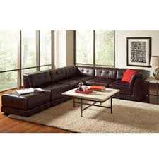 Stacey Leather Sectional Sofa Stacey Leather 6 Modular Sectional From Macys Home