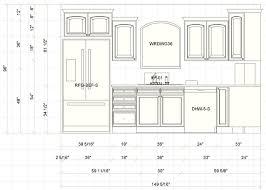 Standard Kitchen Cabinet Height Kitchen Fancy Kitchen Elevation Dimensions Elev A Kitchen