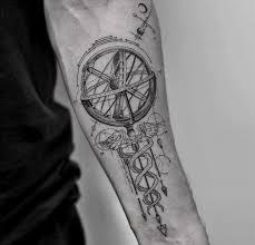 caduceus u0026 armillary sphere best tattoo design ideas