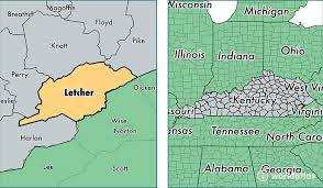 jenkins kentucky map letcher county kentucky map of letcher county ky where is